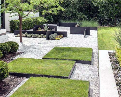 Ultra Modern Gravel Landscape Ideas