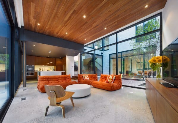 Ultra Modern Home Design Wood Ceiling Ideas