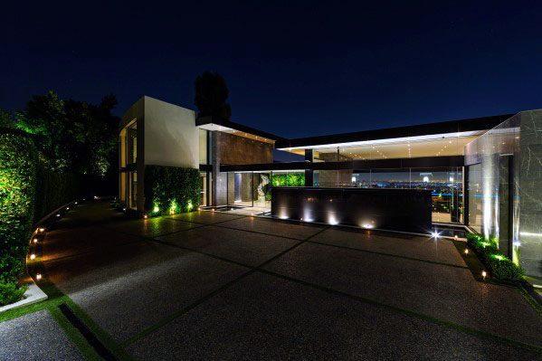 Ultra Modern Home Outdoor Designs Landscape Lighting