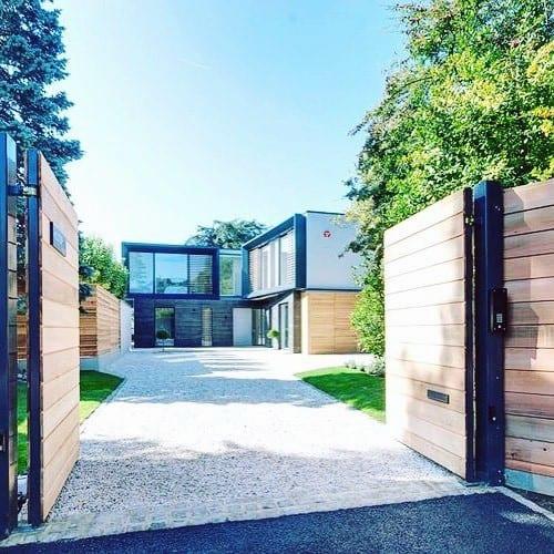 Ultra Modern Homes Gravel Driveway Ideas