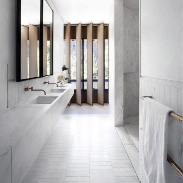 Ultra Modern Homes White Bathroom