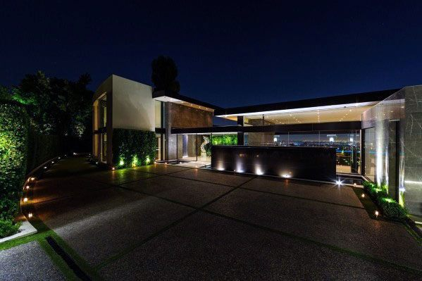 Ultra Modern House Driveway Landscaping Ideas