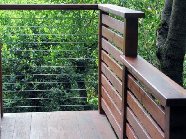 Ultra Modern Ipe Wood Board Slat Deck Railing