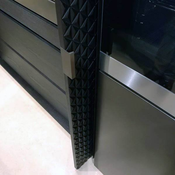 Ultra Modern Leather Designs Pocket Door