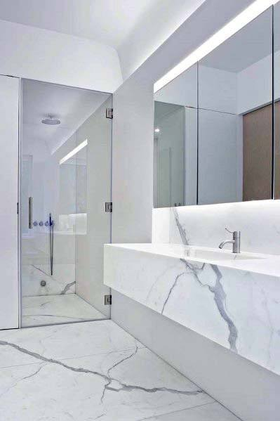 Ultra Modern Marble White Bathroom Ideas