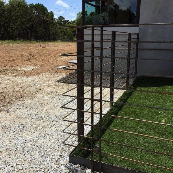 Ultra Modern Metal Dog Fence Design Ideas