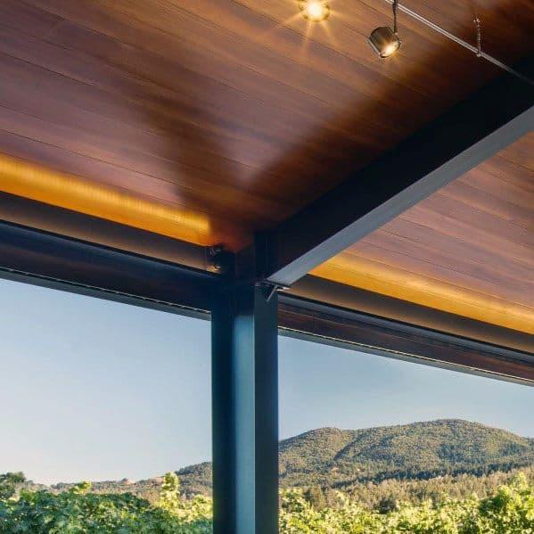 Ultra Modern Wood Ceiling Home Interior Designs Track Lighting