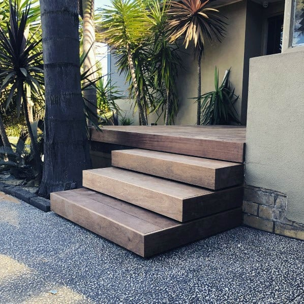 Ultra Modern Wood Sleek Deck Steps Ideas