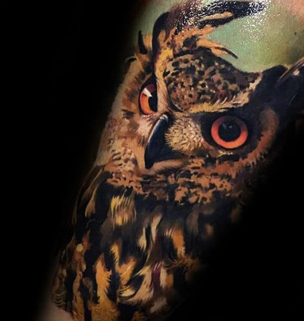 40 owl forearm tattoo designs for men feathered ink ideas. Black Bedroom Furniture Sets. Home Design Ideas