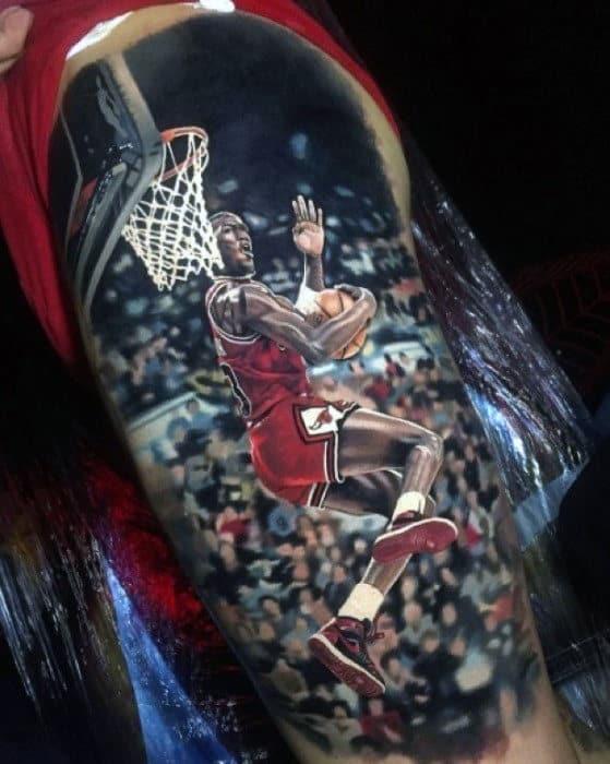Ultra Releastic Jordan Dunk Mens 3d Thigh Tattoos