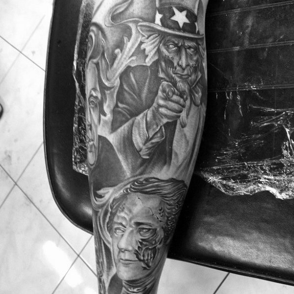 Uncle Sam Tattoo Designs For Guys
