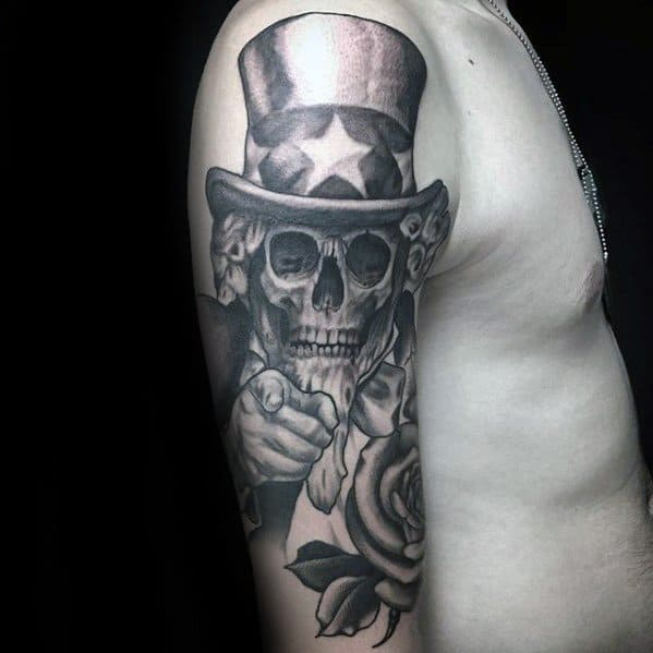 Uncle Sam Tattoo Ideas For Males Half Sleeve