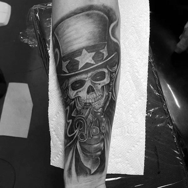 Uncle Sam Tattoos For Gentlemen Inner Forearm