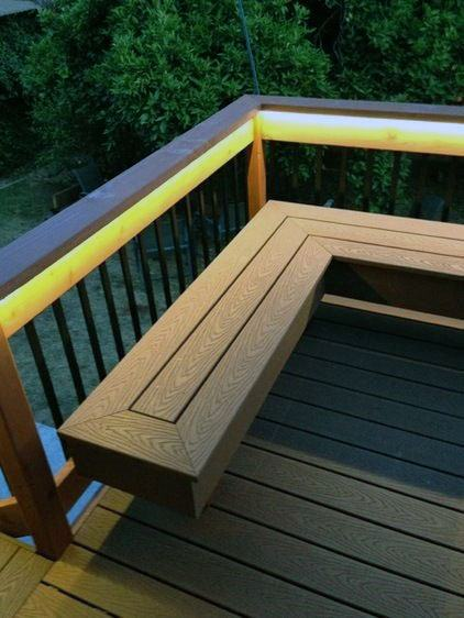 Under Handrail Cool Deck Lighting Design Ideas