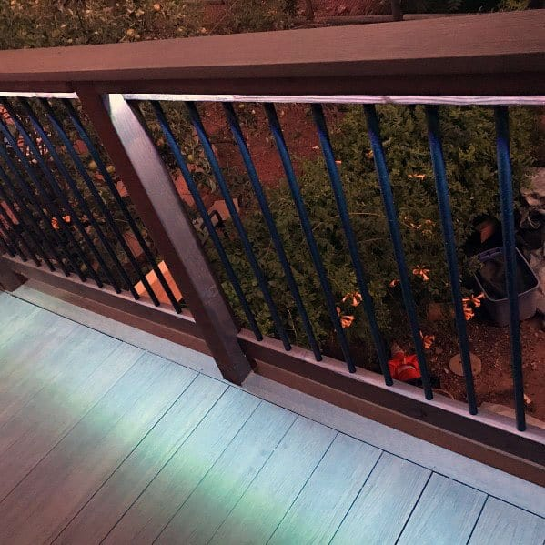 Under Handrail Led Deck Lighting Ideas