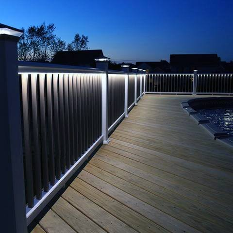 Under Railing White Led Deck Lighting Ideas