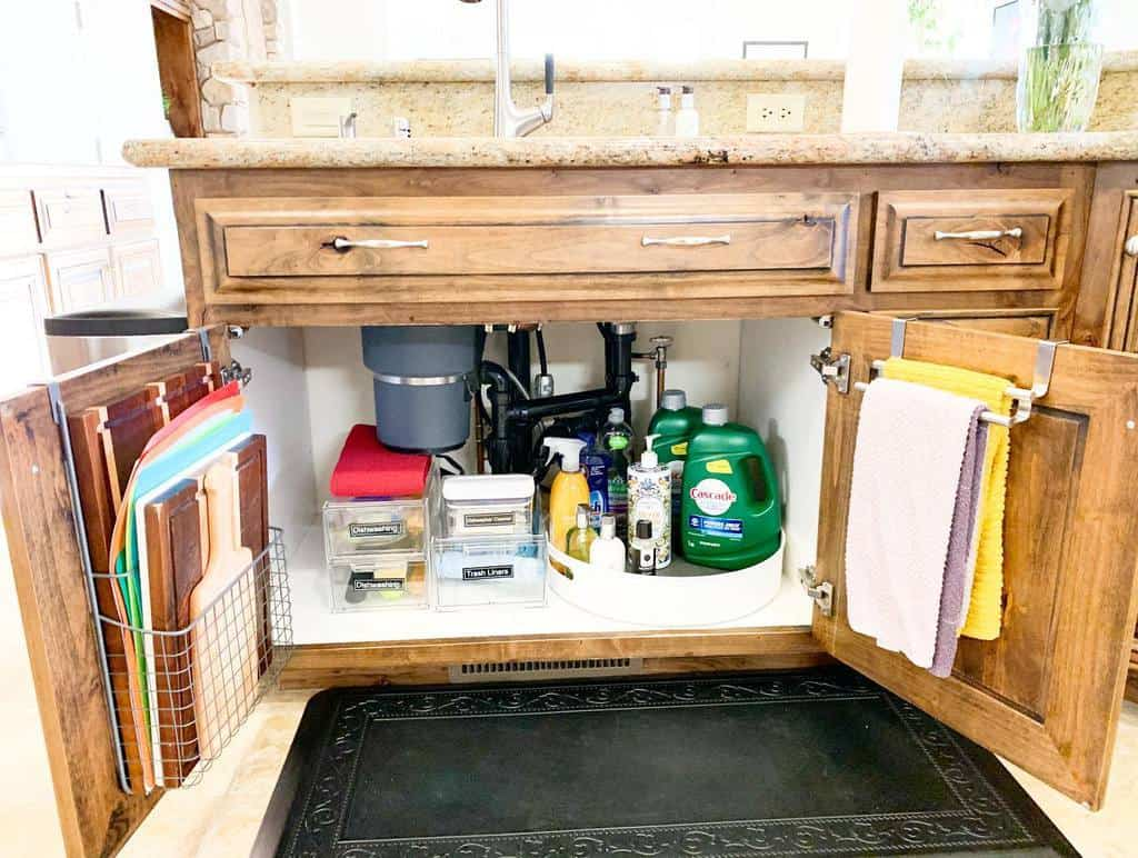 under sink kitchen organization ideas organizingbeyondexpectations