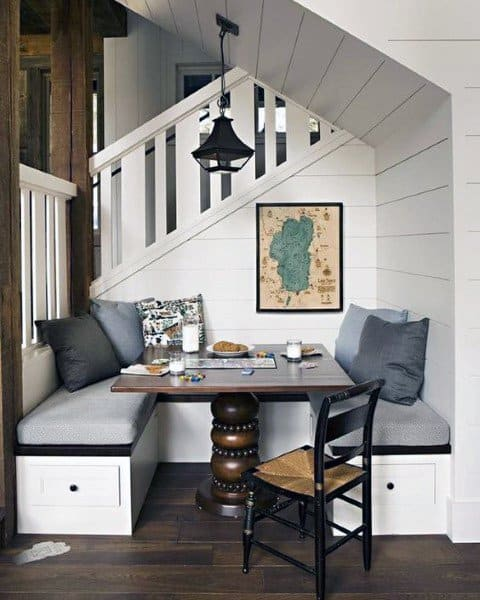 Under Staircase Breakfast Nook