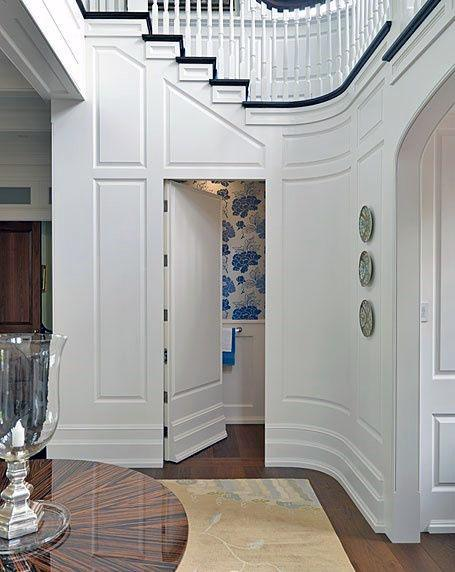 Under Staircase Half Bathroom Hidden Door Design Ideas