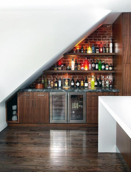Under Staircase Mini Bar Design Ideas