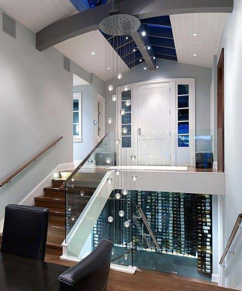 Under Staircase Modern Wine Cellar Designs