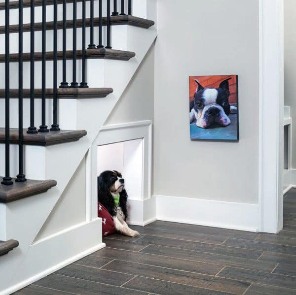 Under Staircase Of Home Dog House Ideas