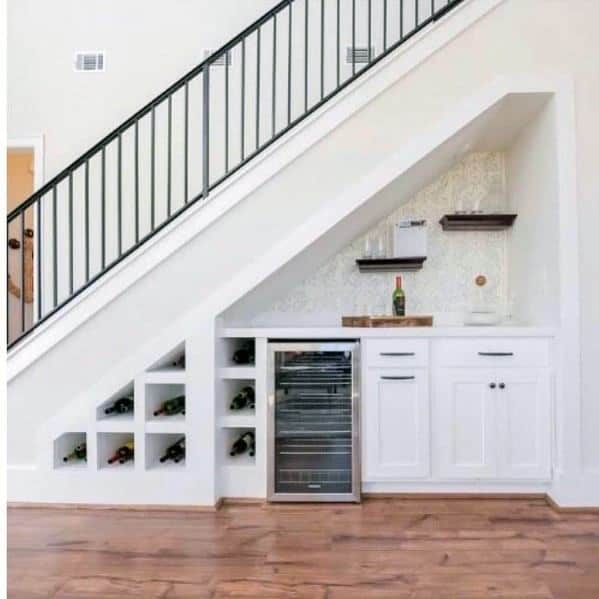 Under Stairs Design Ideas Wet Bar