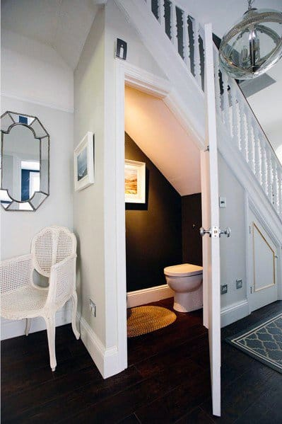 Under Stairs Half Bath Ideas