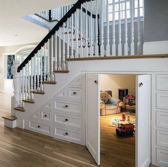 Under Stairs Kitchen Storage Ideas: Top 70 Best Under Stairs Ideas