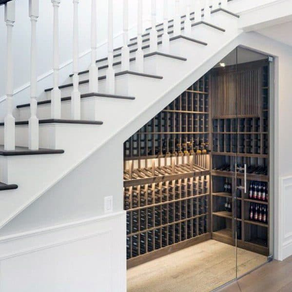 Under Stairs Wine Cellar Ideas With Glass Doors