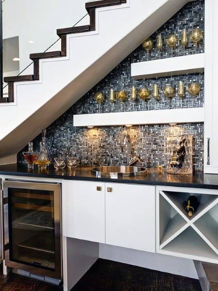 Under The Staircase Wet Bar Ideas