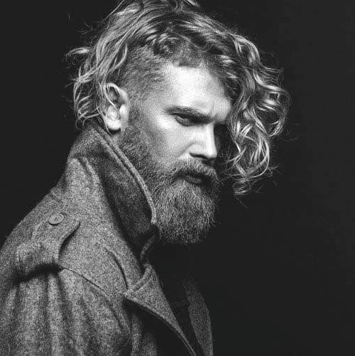 Undercut Hairstyles For Long Curly Hair For Males