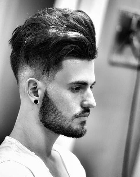Undercut Medium Length Hair Style Men