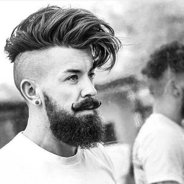 Undercut Shaved Sides Medium Hair Cut For Men