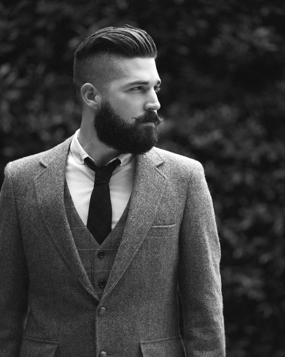 Undercut Stylish Hairstyles For Men With Beards