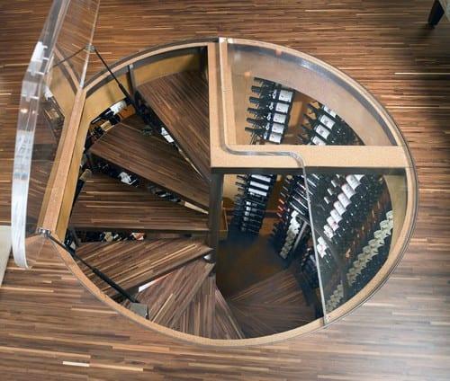 Underground Wine Cellar Design With Stairs