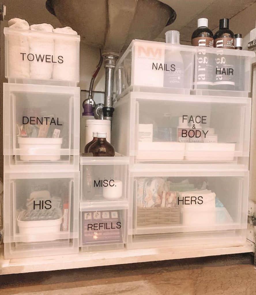 Undersink Bathroom Organization Ideas Julie Eigenmann
