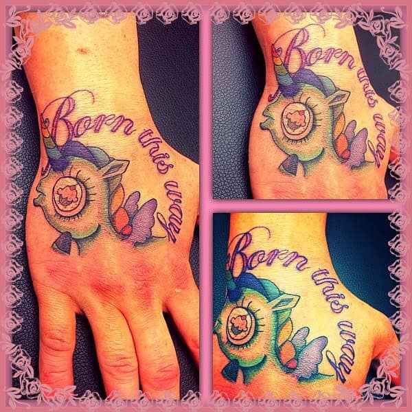 Unicorn Born This Way Tattoos Alextattoofun