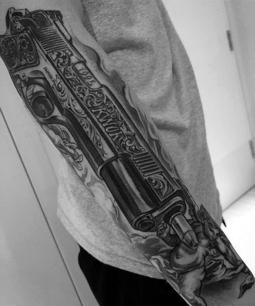 Unique 1911 Tattoos For Men Forearm Sleeve
