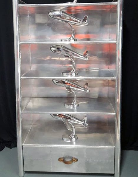Unique Aluminum Bookcase Man Cave Furniture