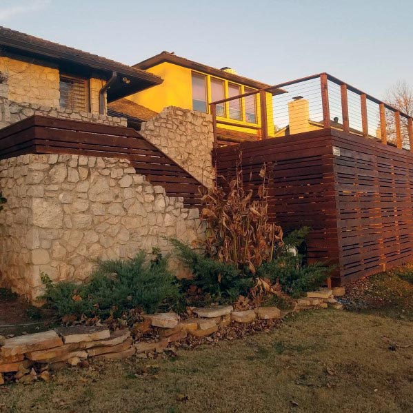 Unique Backyard Ideas Deck Skirting