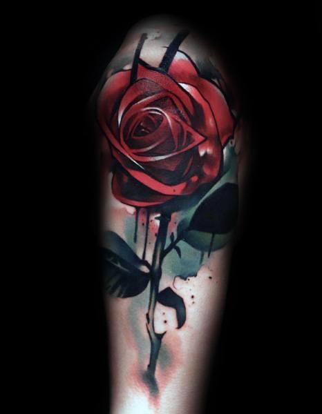 Unique Badass Rose Tattoos For Men