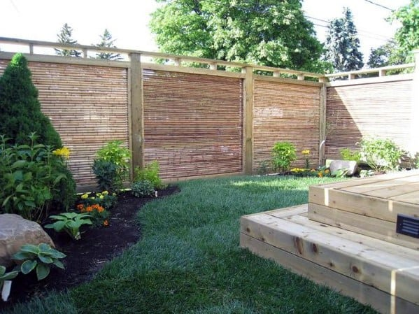 Unique Bamboo Fence Home Ideas For Backyard