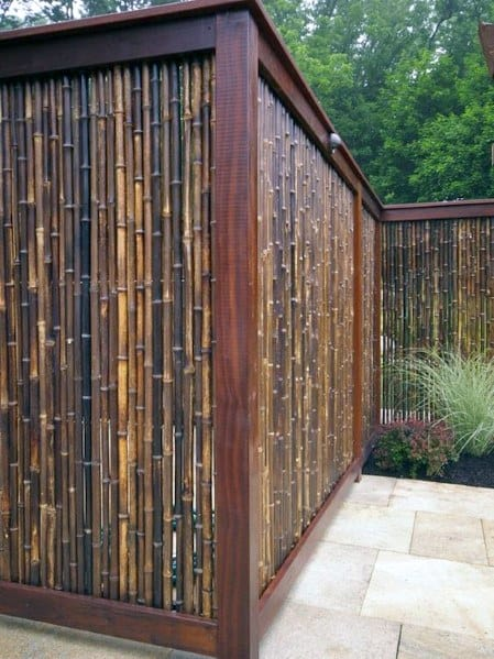 Unique Bamboo Fence