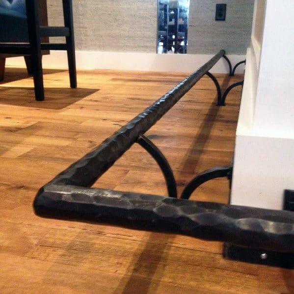 Unique Bar Foot Rail Designs Wrought Iron
