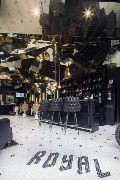 Unique Barber Shop Designs With Bar