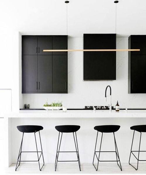 Unique Black And White Kitchen Cabinet