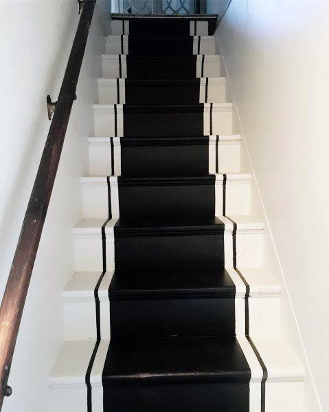 Unique Black And White Paint Staircase Designs
