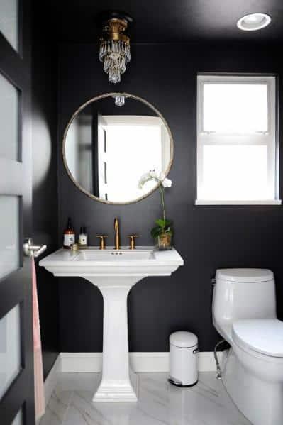 Unique Black Bathroom Designs
