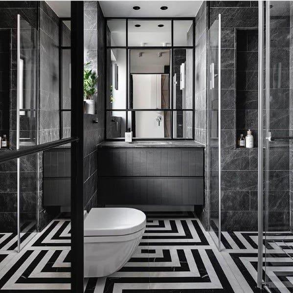 Unique Black Bathrooms
